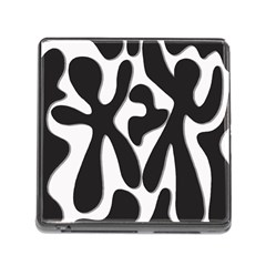 Black and white dance Memory Card Reader (Square)
