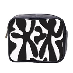 Black and white dance Mini Toiletries Bag 2-Side