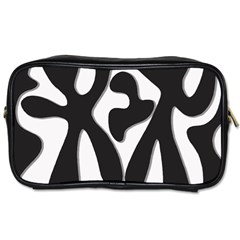 Black and white dance Toiletries Bags 2-Side