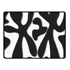 Black and white dance Fleece Blanket (Small)