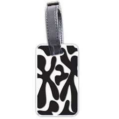 Black and white dance Luggage Tags (Two Sides)