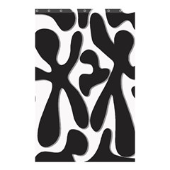 Black and white dance Shower Curtain 48  x 72  (Small)