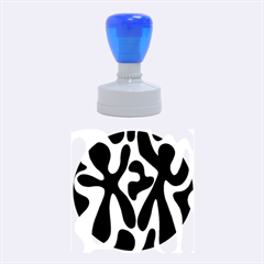 Black and white dance Rubber Round Stamps (Medium)