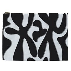 Black and white dance Cosmetic Bag (XXL)