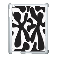 Black and white dance Apple iPad 3/4 Case (White)