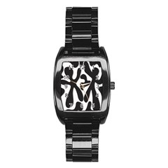 Black and white dance Stainless Steel Barrel Watch
