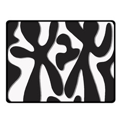 Black and white dance Double Sided Fleece Blanket (Small)