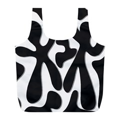 Black and white dance Full Print Recycle Bags (L)