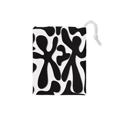 Black and white dance Drawstring Pouches (Small)