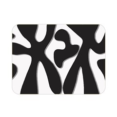 Black and white dance Double Sided Flano Blanket (Mini)