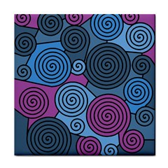 Blue hypnoses Tile Coasters