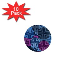 Blue hypnoses 1  Mini Magnet (10 pack)