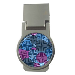 Blue hypnoses Money Clips (Round)