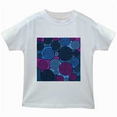 Blue hypnoses Kids White T-Shirts