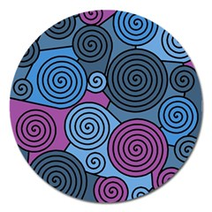 Blue hypnoses Magnet 5  (Round)