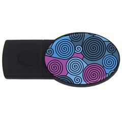 Blue hypnoses USB Flash Drive Oval (2 GB)