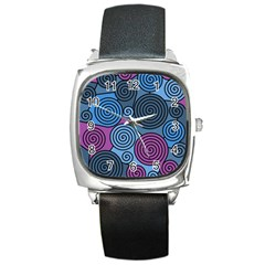 Blue hypnoses Square Metal Watch