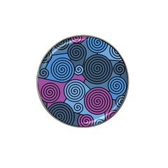 Blue hypnoses Hat Clip Ball Marker
