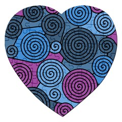 Blue Hypnoses Jigsaw Puzzle (heart)