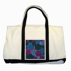 Blue hypnoses Two Tone Tote Bag