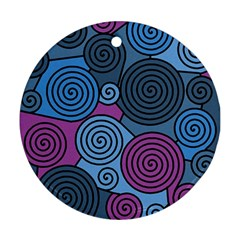 Blue hypnoses Round Ornament (Two Sides)