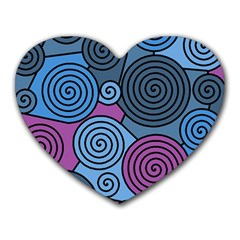Blue hypnoses Heart Mousepads