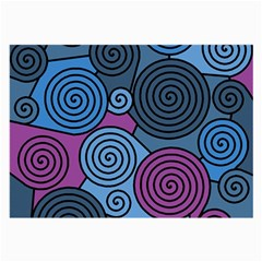 Blue hypnoses Large Glasses Cloth