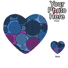 Blue hypnoses Multi-purpose Cards (Heart)