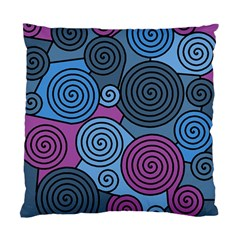 Blue hypnoses Standard Cushion Case (One Side)