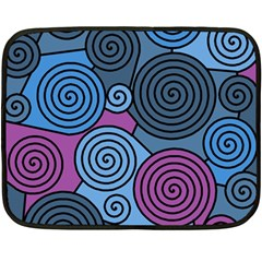 Blue hypnoses Fleece Blanket (Mini)