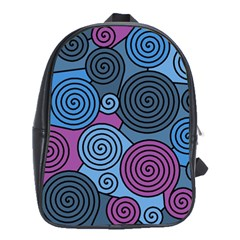 Blue hypnoses School Bags(Large)