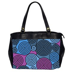 Blue hypnoses Office Handbags (2 Sides)