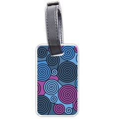 Blue Hypnoses Luggage Tags (one Side)