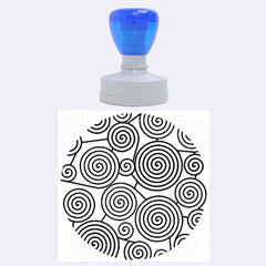 Blue hypnoses Rubber Round Stamps (Large)