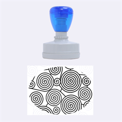 Blue hypnoses Rubber Oval Stamps