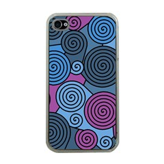Blue hypnoses Apple iPhone 4 Case (Clear)