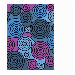 Blue hypnoses Large Garden Flag (Two Sides)