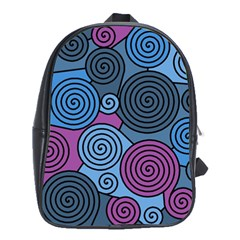 Blue hypnoses School Bags (XL)