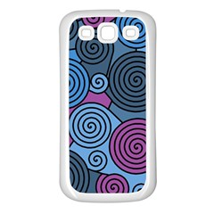 Blue hypnoses Samsung Galaxy S3 Back Case (White)