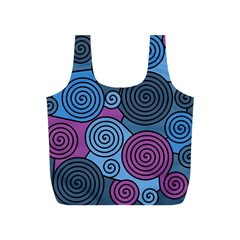 Blue hypnoses Full Print Recycle Bags (S)