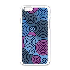 Blue hypnoses Apple iPhone 6/6S White Enamel Case