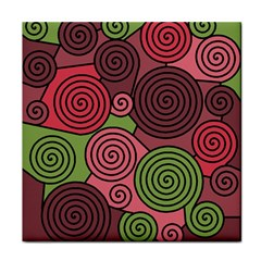 Red and green hypnoses Tile Coasters