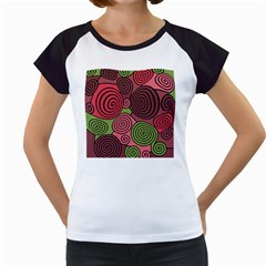Red and green hypnoses Women s Cap Sleeve T