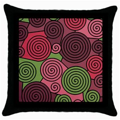 Red and green hypnoses Throw Pillow Case (Black)