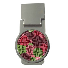 Red and green hypnoses Money Clips (Round)