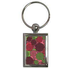 Red and green hypnoses Key Chains (Rectangle)