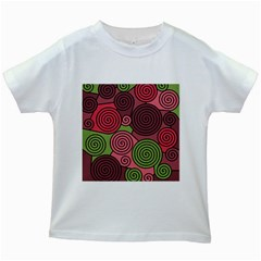 Red and green hypnoses Kids White T-Shirts