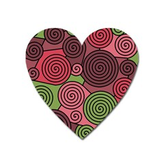Red and green hypnoses Heart Magnet