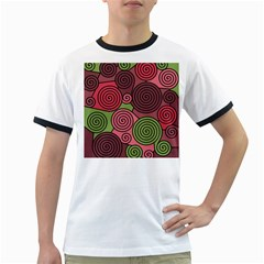 Red and green hypnoses Ringer T-Shirts