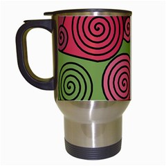 Red and green hypnoses Travel Mugs (White)